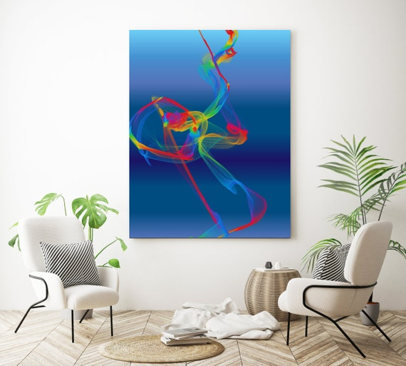 A perfume, Extra Large wall art, Abstract Painting, Blue Red painting, Large Canvas Art, Paintings On Canvas, New Media Painting, Orlov
