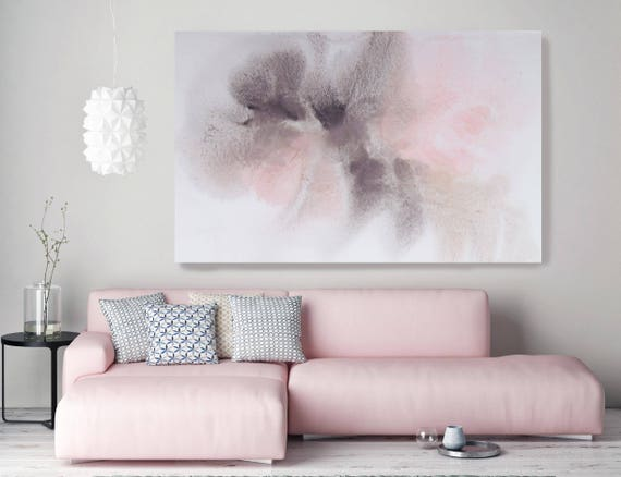 "Colors of Summer Dream. Pink Abstract Paintings Art, Extra Large Abstract Pink Brown Contemporary Canvas Art Print up to 72"" by Irena Orlov"