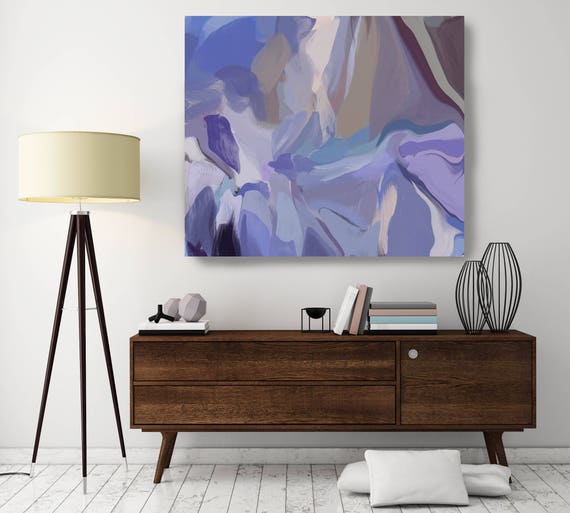 """River of Darkness. ORIGINAL LARGE Abstract Painting, Custom Extra Large Painting, Purple Wall Art Oil Painting up to 50"""" by Irena Orlov"""
