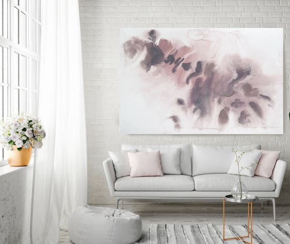 "Shades of Brown. Pink Brown Abstract Paintings Art, Extra Large Abstract Pink Brown Contemporary Canvas Art Print up to 72"" by Irena Orlov"
