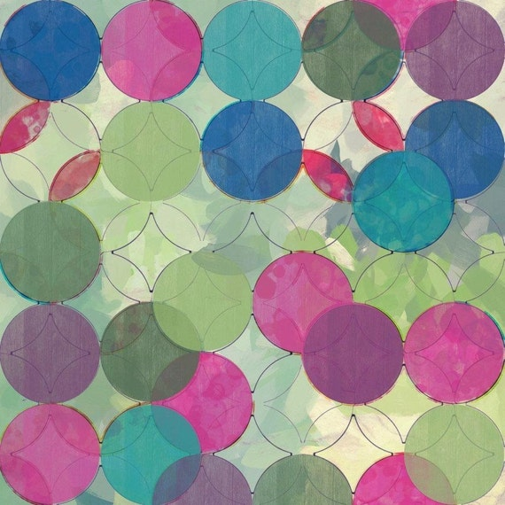 Geometric Circles Abstract 3094 Large Abstract Canvas Art, Abstract giclee, geometrical abstract print, large abstract by Irena Orlov