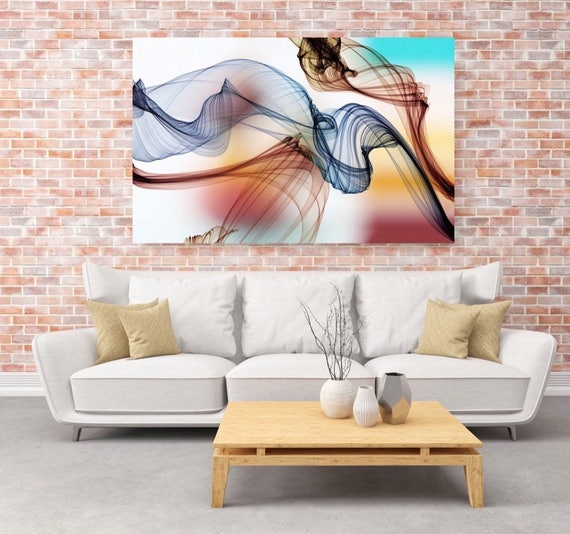 "The Invisible World-Movement 21-2, Abstract New Media Art, Wall Decor, Extra Large Abstract  Canvas Art Print up to 72"" by Irena Orlov"
