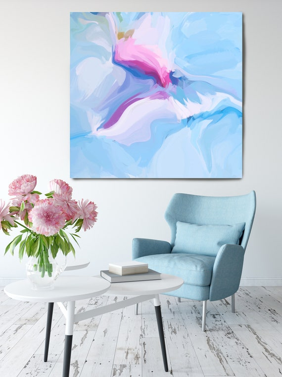Blush Seduction Abstract Art Print