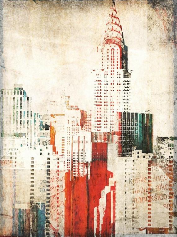 Chrysler Building. Cityscape Canvas Print by Irena Orlov, large city canvas art print, wall art print, wall decor, fine art architectural