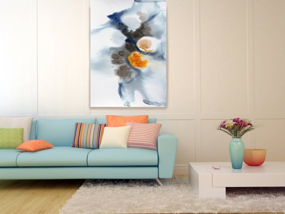 "Watercolor Symphony 16. Watercolor Abstract, Modern Wall Decor, Extra Large Abstract Colorful Canvas Art Print up to 72"" by Irena Orlov"