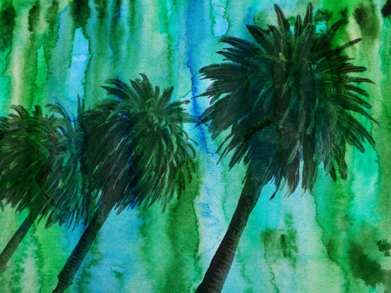 Hollywood Palms.  Canvas Print by Irena Orlov 40x30""