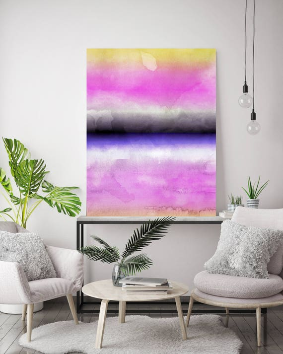 """Inspired by Rothko 8. Purple Pink Watercolor Abstract, Modern Wall Decor, Large Abstract Colorful Canvas Art Print up to 72"""" by Irena Orlov"""