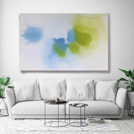 "Coastal Watercolor Abstract 85. Watercolor Abstract Blue Green Canvas Art Print, Watercolor Painting Print up to 72"" by Irena Orlov"