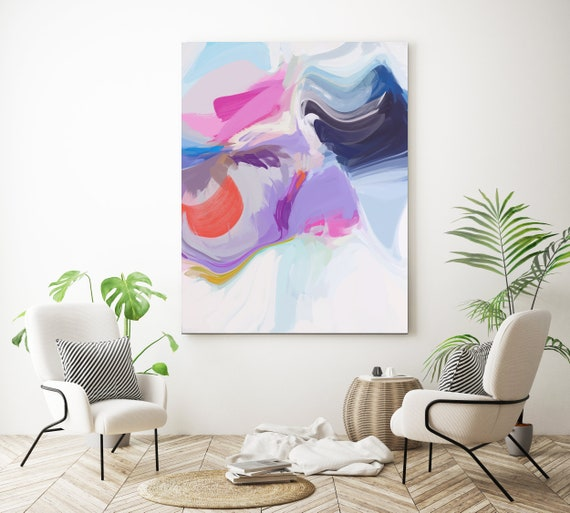Clear aesthetic, Large abstract painting Original abstract painting Canvas painting Large canvas art Original painting Large Wall Art