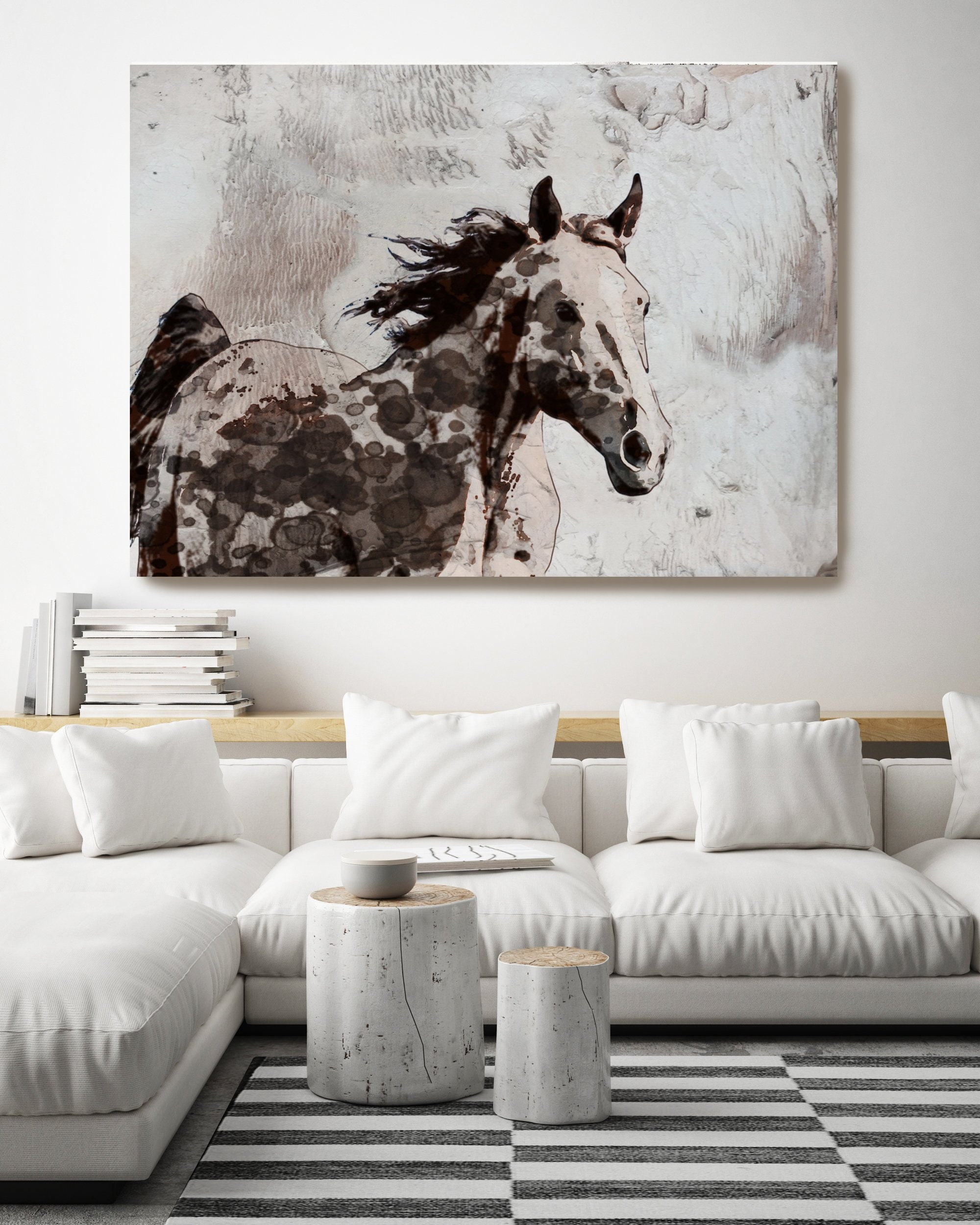 Brown Paint Horse. Horse Painting Horse Home Decor Horse Canvas Horse  Canvas Art Horse Print Horse Horse Wall Decor