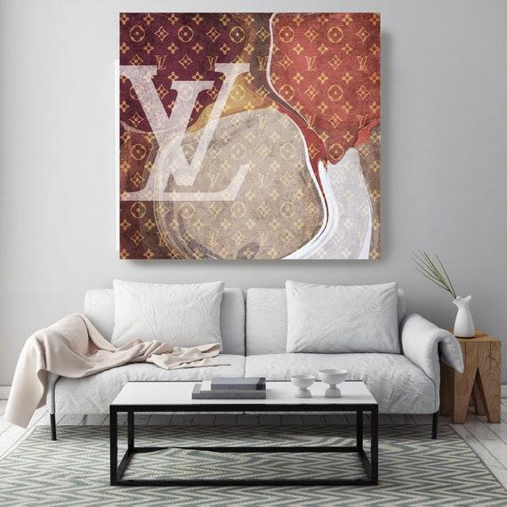Louis Vuitton Canvas, Latest word, Large Canvas, Fashion Home Decor, High Fashion, Art Canvas, Fashion, Fashion brand