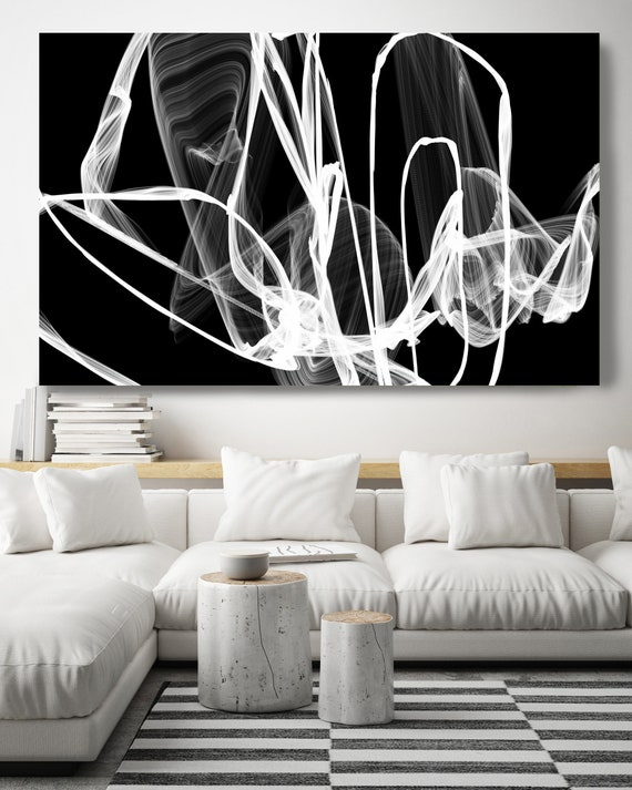 Black and White painting, Black Abstract Art, Abstract Black and White, Canvas Print Modern Home Decor, New Media, Modern Minimalist