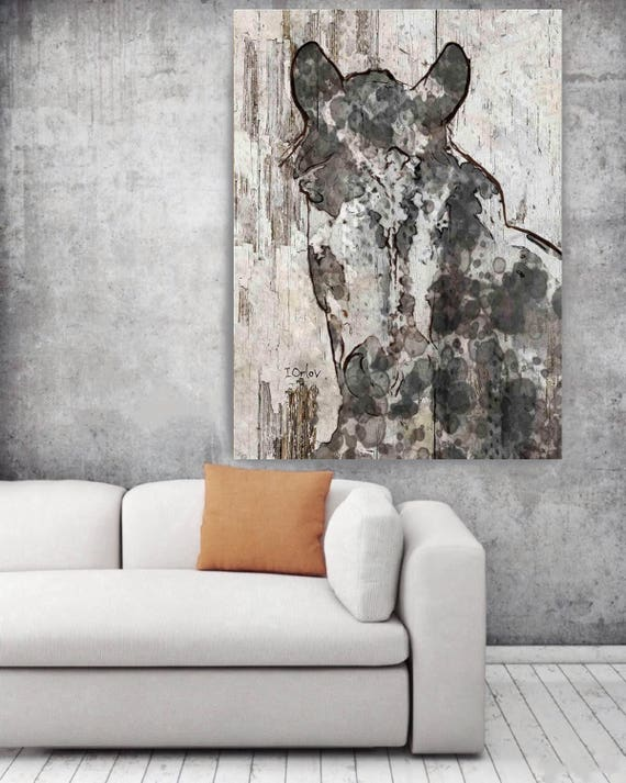 "Exotic Beauty Horse. Extra Large Horse, Horse Wall Decor, Brown Rustic Horse, Large Contemporary Canvas Art Print up to 72"" by Irena Orlov"