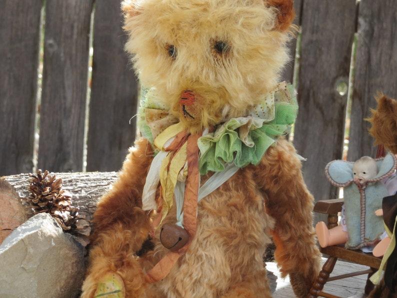 autumn splendor carnival clown teddy bear prairie primitive mohair romantic Fiz Fizzy... HUGE