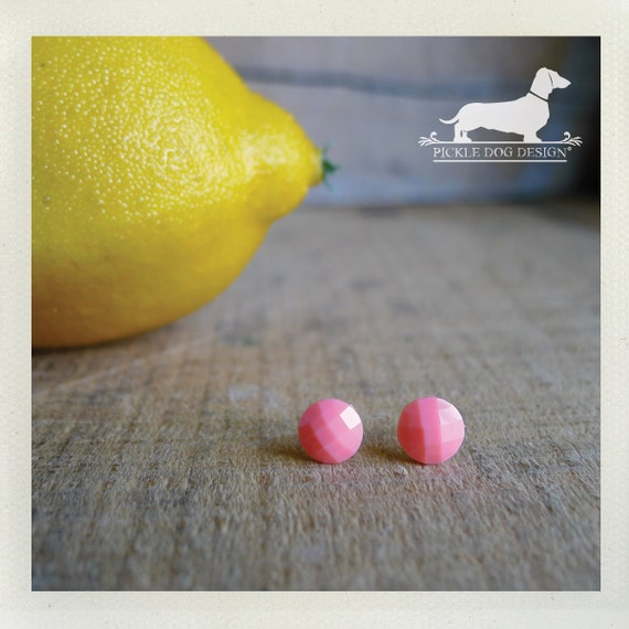 DOLLAR DEAL! Pink Lemonade. Post Earrings