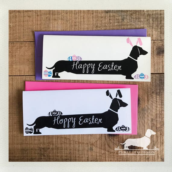 Long Doxie Bunny. Note Card