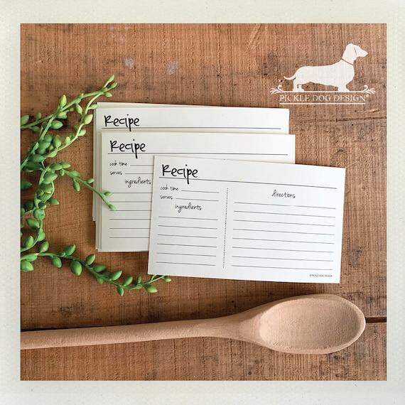 Abby. A Baker's Dozen (Qty 13) Set of Recipe Cards