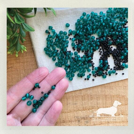 LAST CHANCE! Green Mini Beads