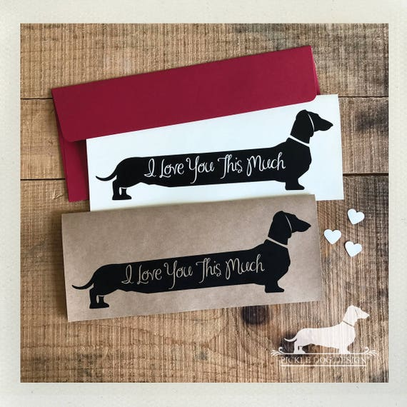 Long Doxie Love. Note Card