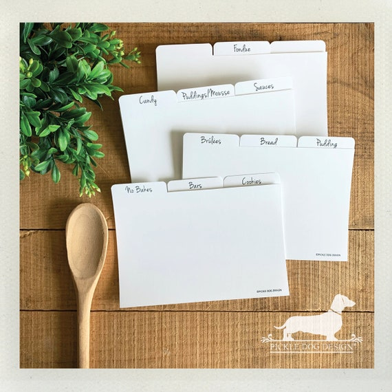 DOLLAR DEAL! 4x6 Recipe Divider Cards