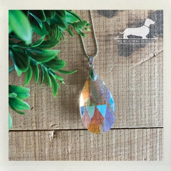 Crystal Teardrop. Necklace