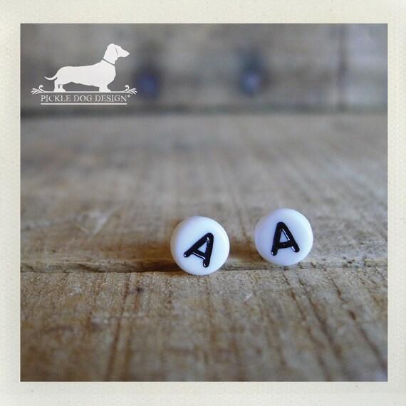 DOLLAR DEAL! Lobe Letters. Personalized Post Earrings