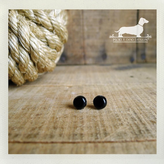 DOLLAR DEAL! Black Bit. Post Earrings