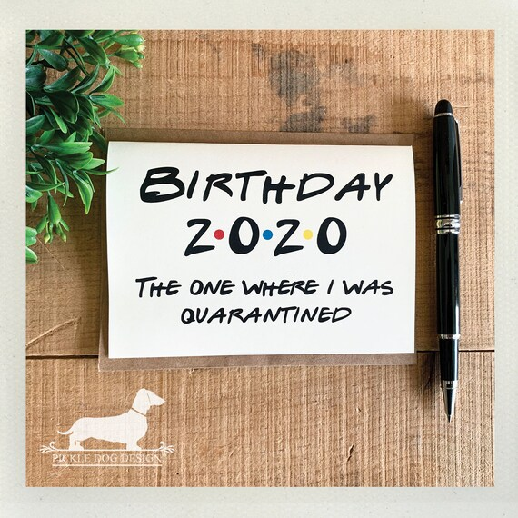 2020 Birthday. Note Card