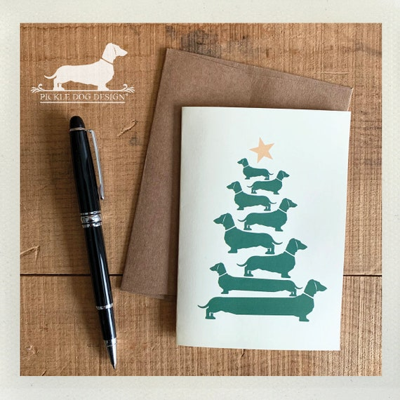 O' Doxie Tree. Note Card