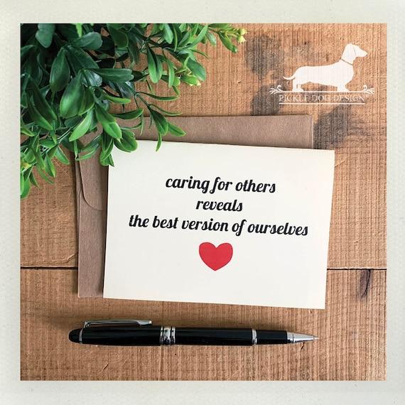 Caregiver. Note Card