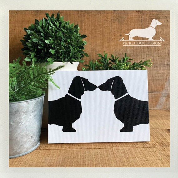 Doxie Love. Easel Back Canvas or Plaque