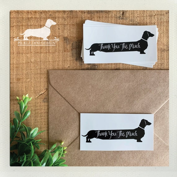 Long Doxie Thank You. Labels (Qty 10)