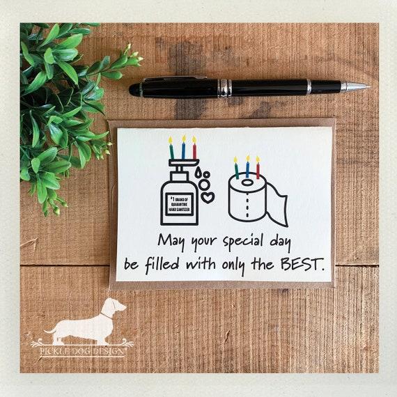 Quarantine Birthday. Note Card