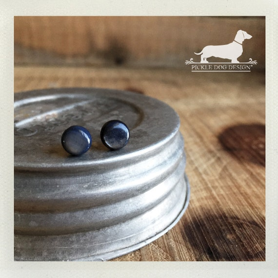 DOLLAR DEAL! Blue Gray. Mini Post Earrings