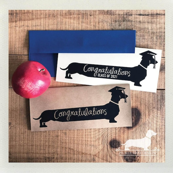 Long Doxie Grad. Note Card
