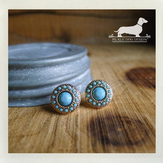 Seafoam Stud. Post Earrings