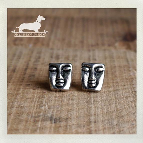 Aztec. Post Earrings