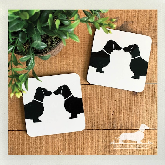 Doxie Love. Coasters (Set of 2)