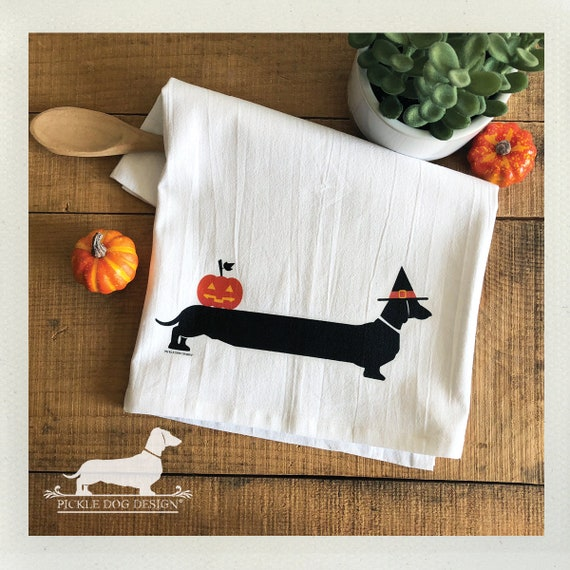 Halloweenie. Tea Towel