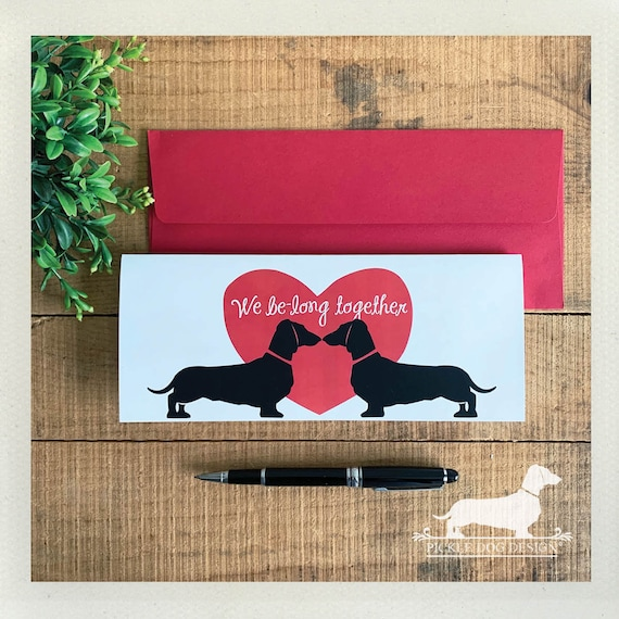We Be-Long Together. Doxie Note Card