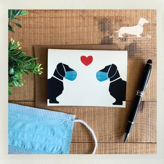 Masked Doxie Love. Note Card