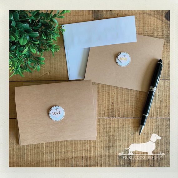 DOLLAR DEAL! Love. Note Cards (Set of 4)