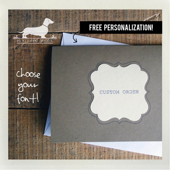 Free Personalization. Note Cards (Set of 8)