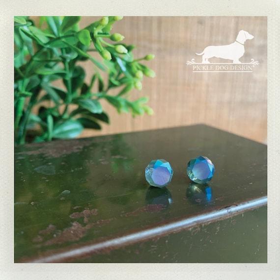 Crystal Gem. Post Earrings