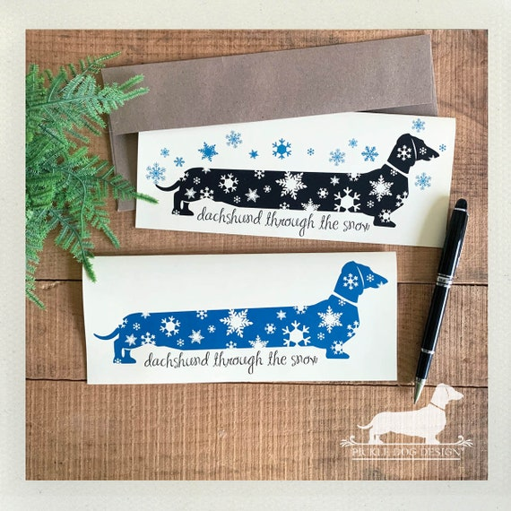 Snowflake Doxie. Note Card