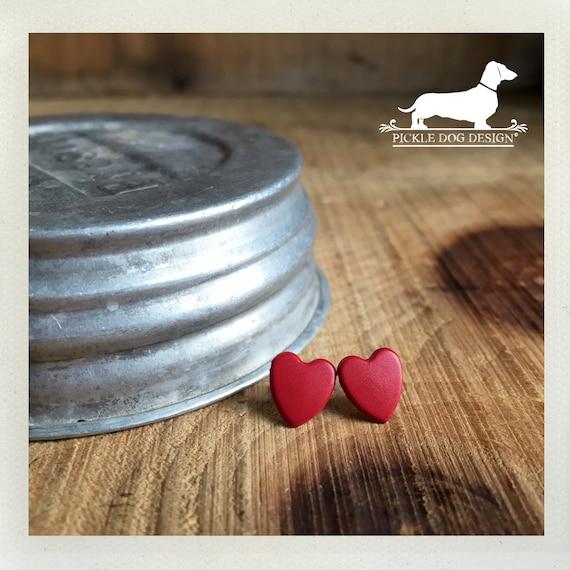 DOLLAR DEAL! I Heart You. Red Heart Post Earrings