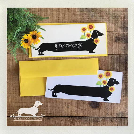 Sunflower Doxie. Note Card