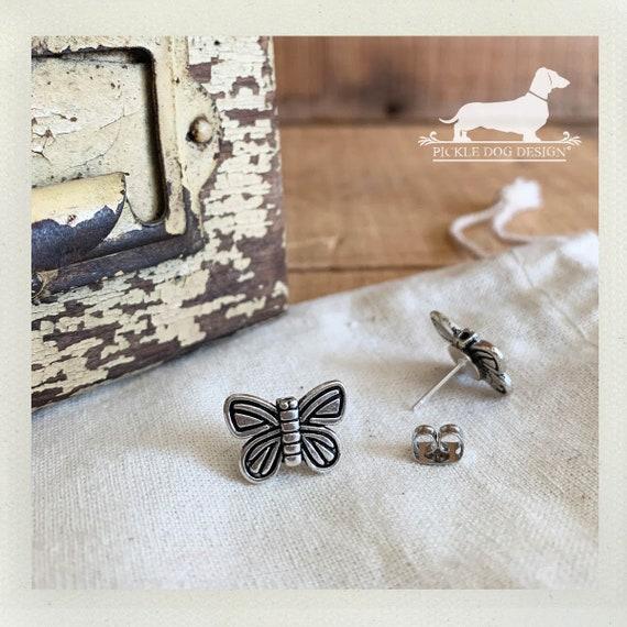 Beautiful Butterfly. Post Earrings