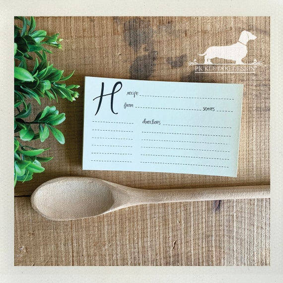 DOLLAR DEAL! H. Recipe Cards (Qty 13)