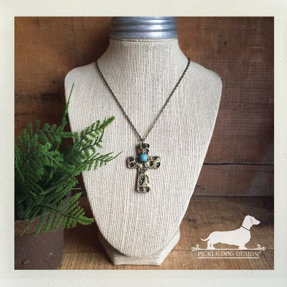Stone Rolled Away. Cross Necklace
